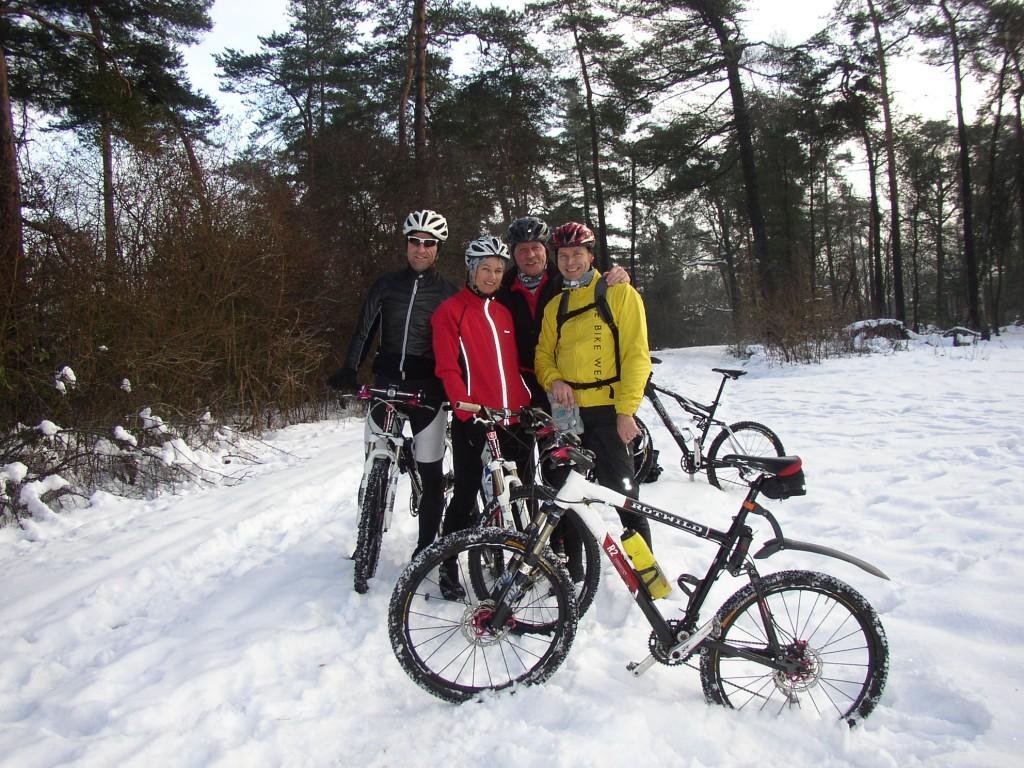 Haardbiker im Winter