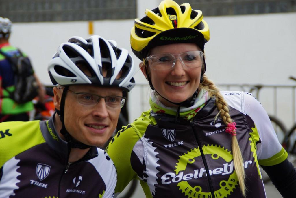 Sascha und Kim vor dem Startschuss in Sundern