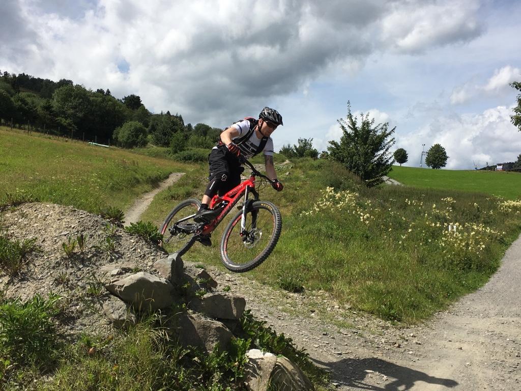 Nils im Bikepark